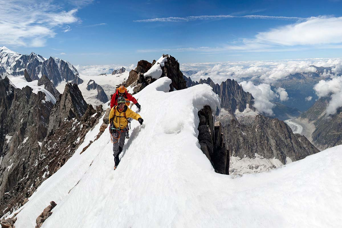 mountain skills what gear to bring single and multi pitch climbing